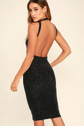 Here's Looking at You Black Bodycon Dress at Lulus.com!