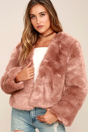 Somedays Lovin' The Giver Mauve Faux Fur Coat at Lulus.com!