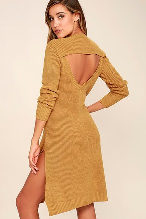 Somedays Lovin' Honey Jam Mustard Yellow Sweater Dress at Lulus.com!