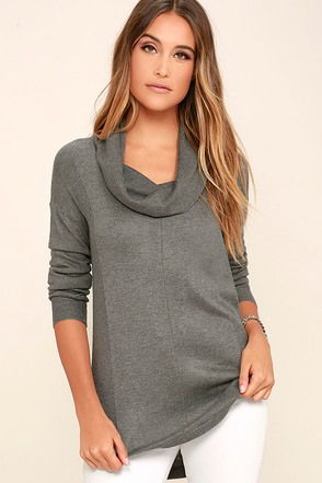 Olive & Oak Snuggle Season Grey Sweater Top at Lulus.com!