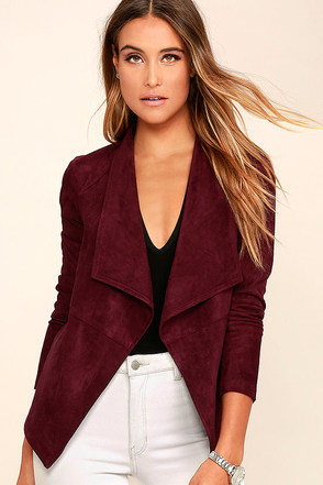 BB Dakota Nicholson Burgundy Suede Jacket at Lulus.com!