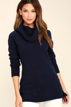 Olive & Oak Weekend in New England Navy Blue Sweater at Lulus.com!