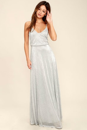 Friend of the Glam Silver Maxi Dress at Lulus.com!