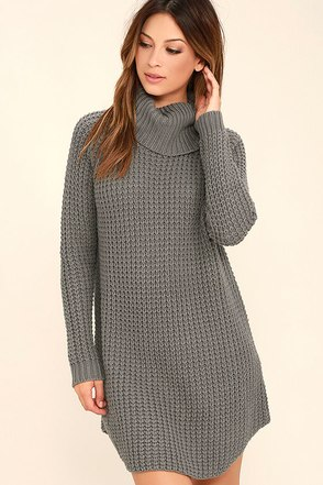 Element Eden Eleventh Grey Sweater Dress at Lulus.com!