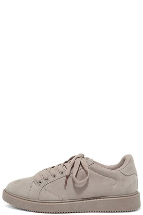 My City Light Grey Suede Sneakers at Lulus.com!
