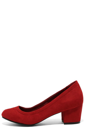 Having a Party Red Suede Heels at Lulus.com!