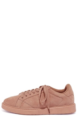 My City Mauve Suede Sneakers at Lulus.com!