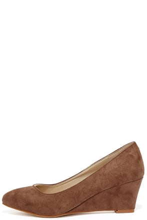 Speed Racer Taupe Suede Wedges at Lulus.com!