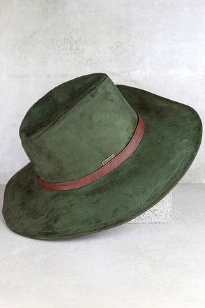 Billabong Before Daybreak Olive Green Suede Hat at Lulus.com!