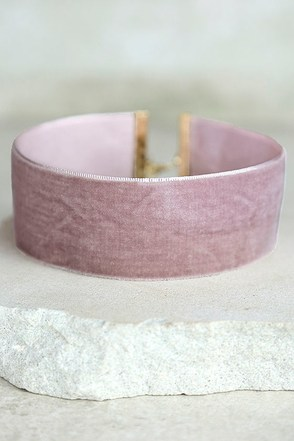 Well Wishes Tan Velvet Choker Necklace at Lulus.com!