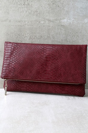 Bayou Babe Burgundy Clutch at Lulus.com!
