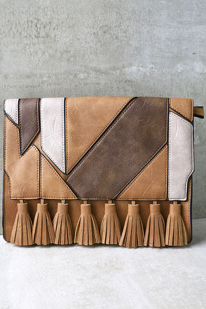 Piecing it Together Brown Clutch at Lulus.com!
