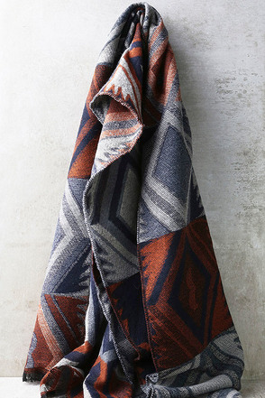 Call of the Wild Blue Print Scarf at Lulus.com!