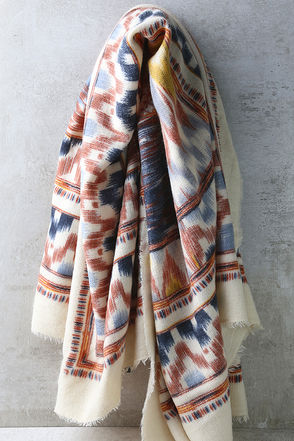 Eyes on Us Light Beige Print Scarf at Lulus.com!