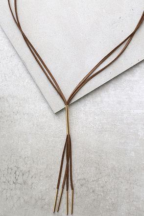Western Moment Gold and Brown Layered Necklace at Lulus.com!