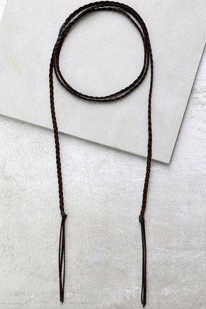 Wild and Wily Black Wrap Necklace at Lulus.com!
