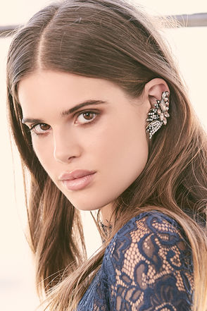 Fairy Godmother Gold Rhinestone Ear Cuffs at Lulus.com!