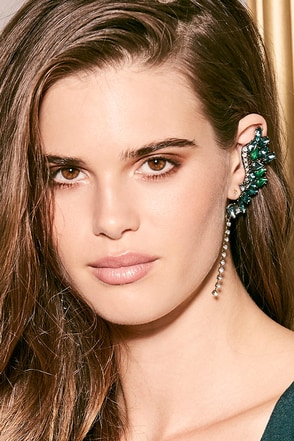 Ocean's Jewels Blue and Green Rhinestone Ear Cuffs at Lulus.com!