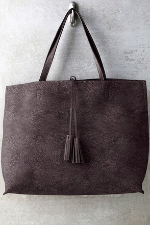 When We Were Young Taupe and Brown Reversible Tote at Lulus.com!
