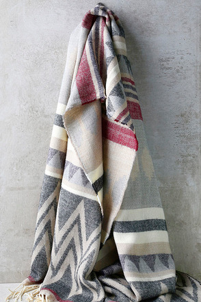 La Mesa Cream Print Scarf at Lulus.com!
