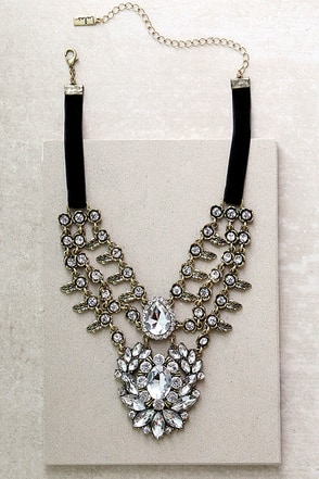Victorian Charm Gold Rhinestone Choker Necklace at Lulus.com!