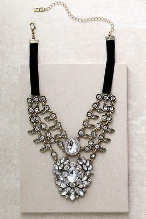 Victorian Charm Gold Rhinestone Choker Necklace at Lulus.com!