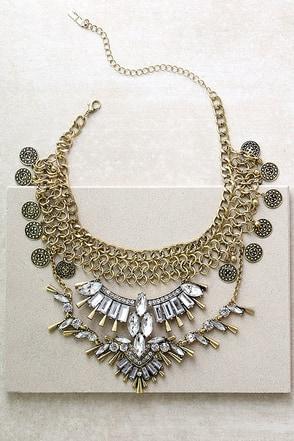 Love Tarot Gold Rhinestone Choker Necklace at Lulus.com!