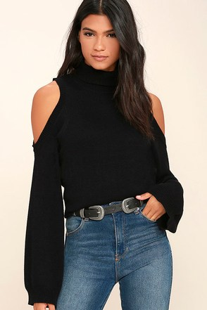 Spoiler Alert Black Turtleneck Sweater at Lulus.com!