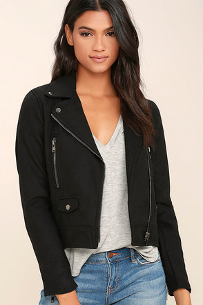 You're in Luck Black Moto Jacket at Lulus.com!