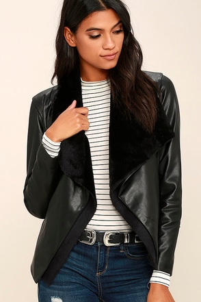 BB Dakota James Black Vegan Leather Jacket at Lulus.com!