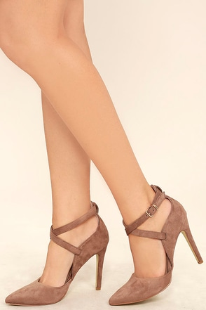 Important Invitee Olive Suede Heels at Lulus.com!
