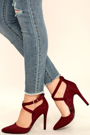 Important Invitee Black Suede Heels at Lulus.com!