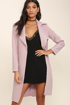 Made for You Mauve Pink Trench Coat at Lulus.com!