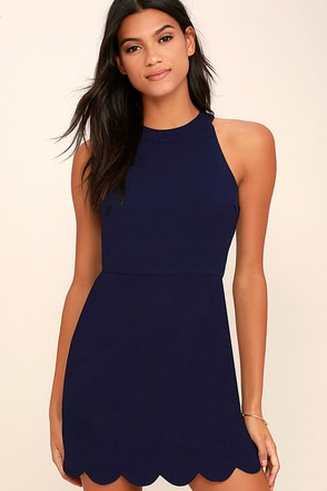 Favorite Feeling Navy Blue Dress at Lulus.com!