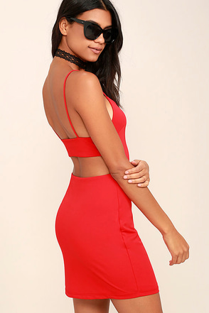 NBD Kate Red Backless Bodycon Dress at Lulus.com!