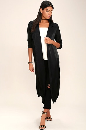 VIP Status Black Duster at Lulus.com!
