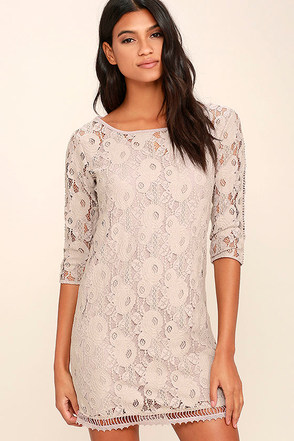 Gentle Fawn Hawk Grey Lace Dress at Lulus.com!