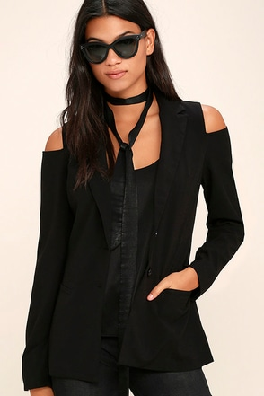 Magic Moments Black Blazer at Lulus.com!