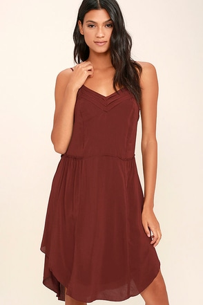 Gentle Fawn Pony Burgundy Midi Dress at Lulus.com!