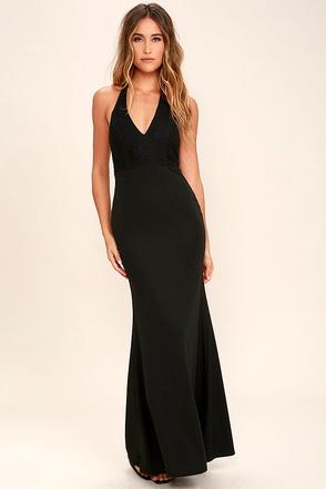 Love Potion Ivory Lace Halter Maxi Dress at Lulus.com!