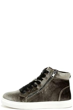 Steve Madden Earnst Taupe Velvet Sneakers at Lulus.com!