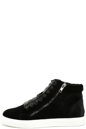Steve Madden Earnst Black Velvet Sneakers at Lulus.com!