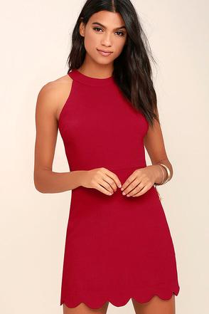 Favorite Feeling Wine Red Dress at Lulus.com!