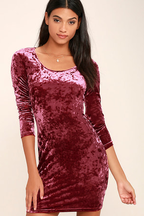 Deja Vu Burgundy Bodycon Dress at Lulus.com!