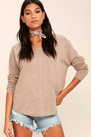 Foggy Morning Beige Sweater at Lulus.com!