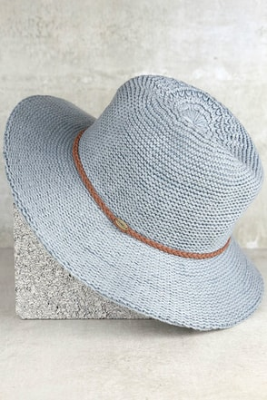 O'Neill Canyon Grey Fedora Hat at Lulus.com!