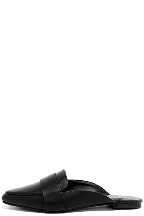 Chiavari Black Loafer Slides at Lulus.com!