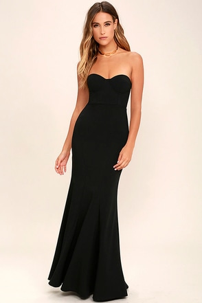 For Infinity Navy Blue Strapless Maxi Dress at Lulus.com!