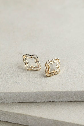 Spin Control Gold Earrings at Lulus.com!