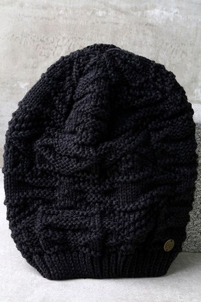 Billabong Get Cozy Charcoal Grey Knit Beanie at Lulus.com!
